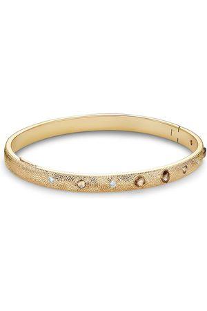 De Beers 14kt 'Talisman' Gelbgoldarmreif mit Diamanten