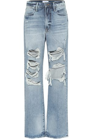 Frame Mid-Rise Distressed Jeans Hollywood