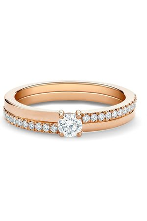 De Beers 18kt 'The Promise' Rotgoldring