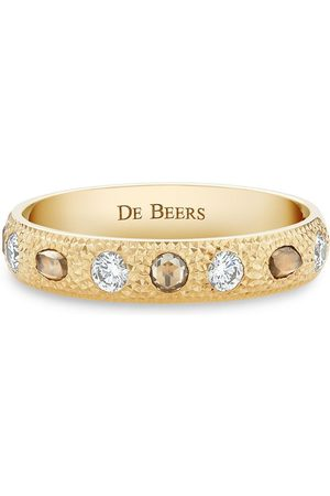 De Beers 18kt Gelbgoldring mit Diamanten