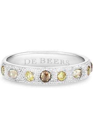 De Beers 18kt Weißgoldring mit Diamanten