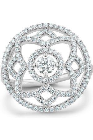 De Beers 18kt 'Enchanted Lotus' Weißgoldring mit Diamanten