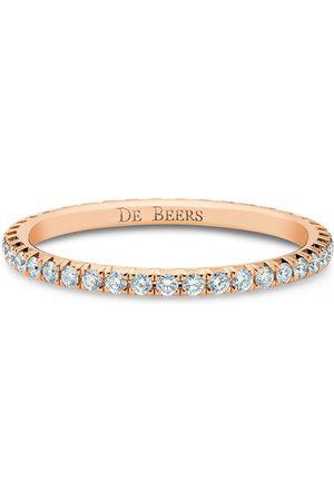 De Beers 18kt 'Aura Eternity' Rotgoldring mit Diamanten