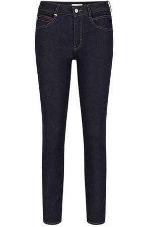 HUGO BOSS Damen Slim - Slim-fit jeans in dark-blue comfort-stretch denim