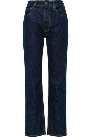 Prada Damen Straight - Gerade Cropped-Jeans
