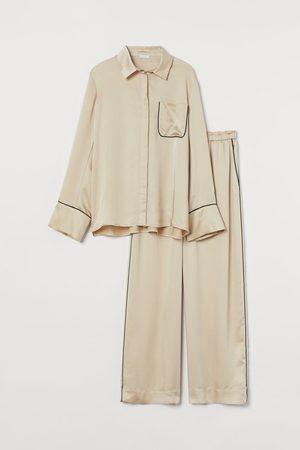 H&M Damen Schlafanzüge - Satinpyjama