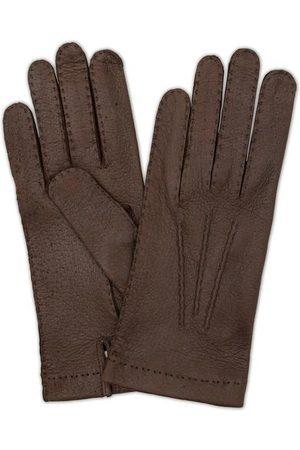 Hestra Herren Handschuhe - Peccary Handsewn Unlined Glove Espresso Brown