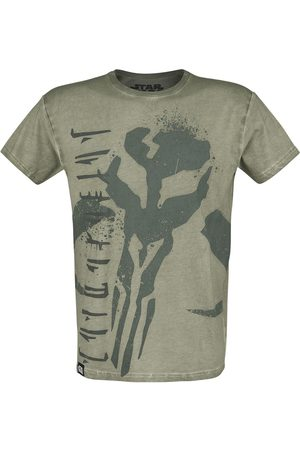 STAR WARS Herren T-Shirts, Polos & Longsleeves - The Mandalorian T-Shirt oliv