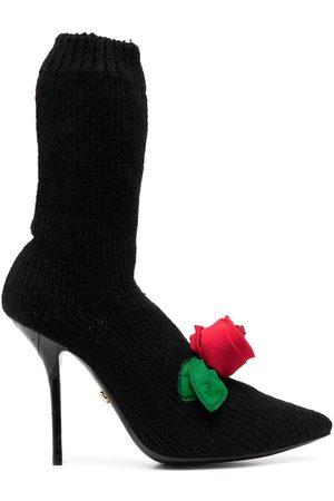 Dolce & Gabbana Damen Stiefeletten - Gestrickte Stiefel