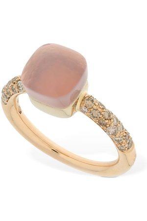 Pomellato Nudo 18kt Thin Ring W/ Quartz & Diamond