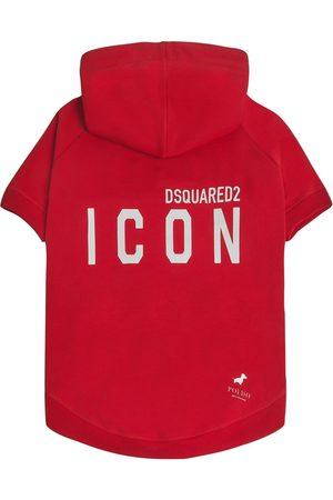 POLDO X DSQUARED2 Icon Logo Cotton Jersey Dog Hoodie