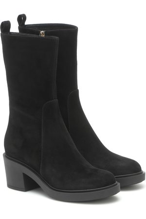 Gianvito Rossi Ankle Boots Margaux aus Veloursleder