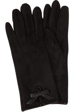 eem-fashion Damen Handschuhe - Handschuhe mit Zierschleife