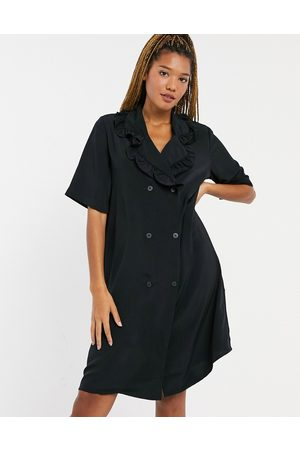 Monki Marian – Mini-Hemdkleid mit Kragen in