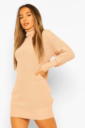 Boohoo Womens Petite Pulloverkleid Mit Rollkragen - - S
