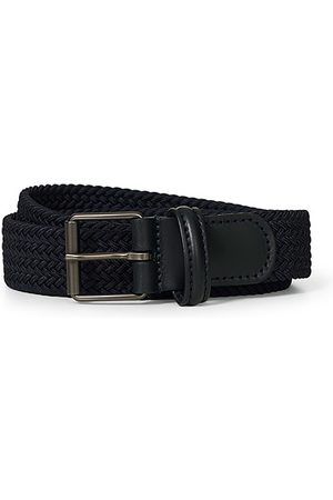 Anderson's Herren Gürtel - Elastic Woven 3 cm Belt Navy