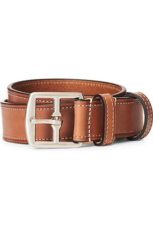 Anderson's Herren Gürtel - Bridle Stiched 3,5 cm Leather Belt Tan