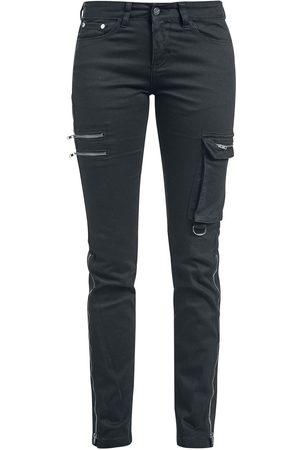 Black Premium by EMP Damen Cropped - Skarlett - Schwarze Jeans mit zwei Saumvarianten Jeans