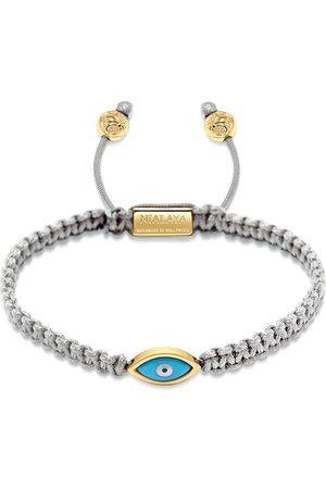 Nialaya Jewelry Gewebtes Armband mit vergoldeten Details
