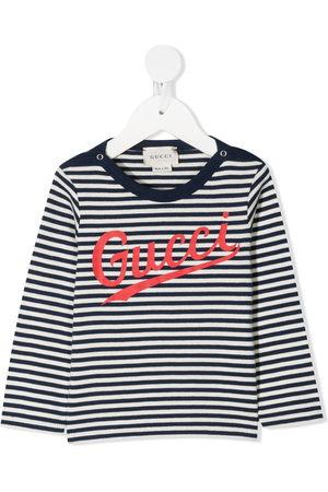 Gucci Gestreiftes T-Shirt mit Logo