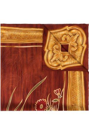 CHANEL 1990s Schal mit Blütenmuster