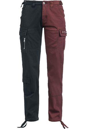 Black Premium by EMP Damen Cargohosen - Zweifarbige Cargo-Hose Jeans /