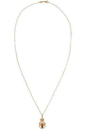 Dolce & Gabbana 18kt 'King' Gelbgoldhalskette mit Diamanten