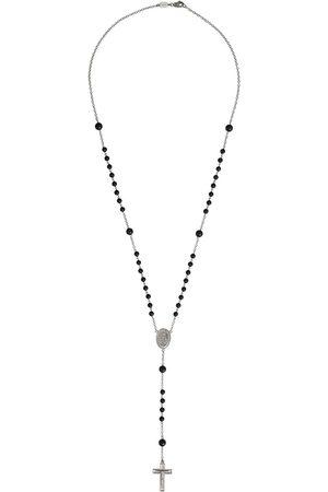 Dolce & Gabbana 18kt Weißgold-Rosenkranzkette