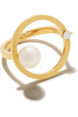 Tasaki 18kt Gelbgoldring mit Diamanten