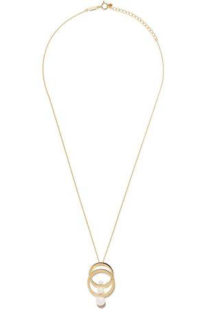 Tasaki 18kt Gelbgoldhalskette mit Perlenanhänger