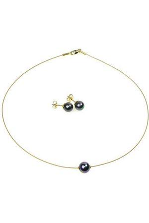 Orquidea Perlenkette The Floating Pearl Black Set, , onesize