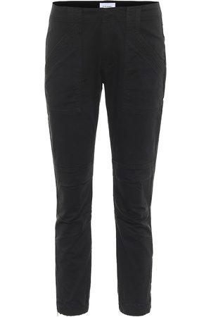 Frame Mid-Rise Slim Jeans Moto