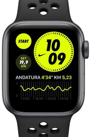 Nike Apple Watch Series 6 (GPS + Mobilfunk) mit Sportarmband 40-mm-Aluminumgehäuse in Space Gray