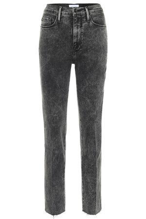 Frame High-Rise Straight Jeans Le Sylvie