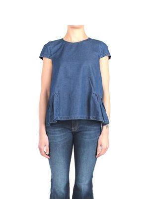 Rose A Pois T-Shirt MILLEPIEDI Blusen Damen Den blau