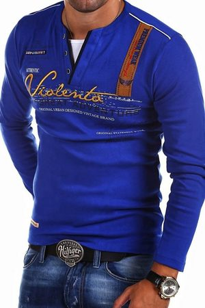 behype Langarmshirt »ADVENTURE« mit modischer Stickerei
