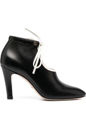 Gucci Tie-up mid-heel boots