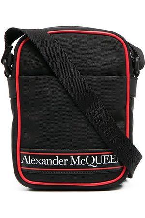 Alexander McQueen Herren Umhängetaschen - Kuriertasche mit Logo-Print