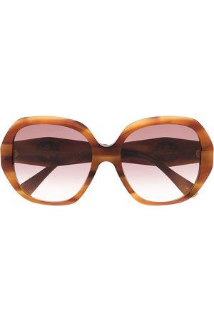 Gucci Oversized-Sonnenbrille in Schildpattoptik