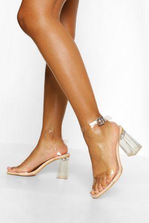 Boohoo Damen Pumps - Womens Transparente Zweiteilige Heels - - 36