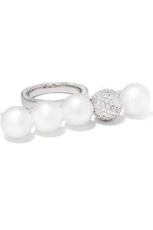 Tasaki Balance Signature Decade' Perlenring mit Diamanten