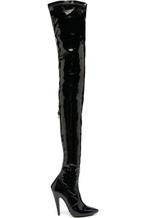 Saint Laurent Aylah' Overknee-Stiefel aus Lackleder