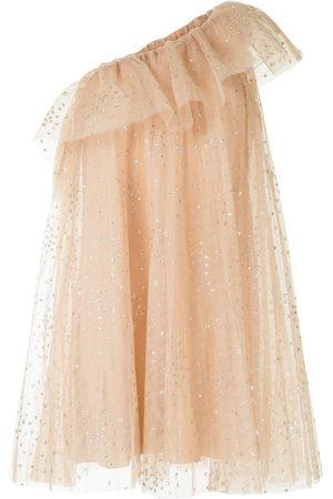 RED Valentino Einschultriges Kleid mit Rüschen