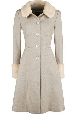 Voodoo Vixen Louisa May Sand Long Dress Coat Mantel