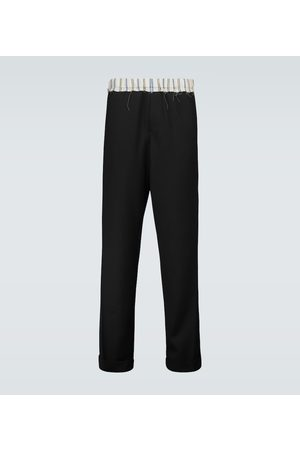 WALES BONNER Straight-Leg-Hose aus Schurwolle