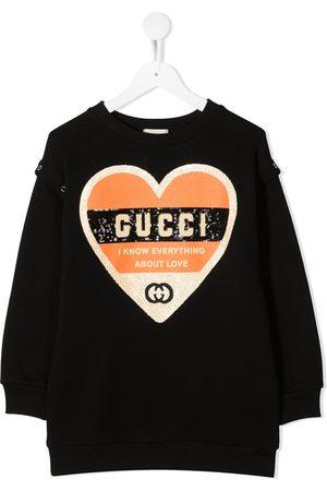 Gucci Kids Mädchen Sweatshirts - Sweatshirt mit Paillettenherz