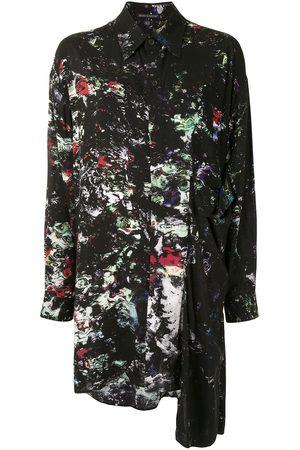 Yohji Yamamoto Asymmetrisches Hemd mit Print