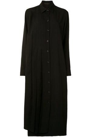 Yohji Yamamoto Damen Freizeitkleider - Hemdkleid mit Falten