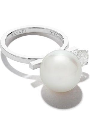 Tasaki 18kt 'Balance Class' Weißgoldring mit Diamanten