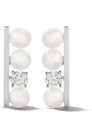 TASAKI 18kt 'Balance' Weißgoldohrringe mit Diamanten